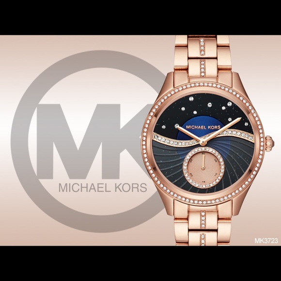 4137e7807764 Michael Kors Lauryn Celestial Pave Rose Gold Watch